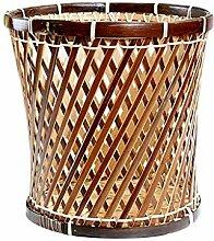 Hujindong lamp Rattan Bambus Papierkorb Abfall