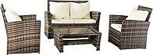 HUJUNG Rattan-Sofa mit abgeschrägter