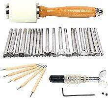 HUKOER Leather Supplies Zubehör Werkzeuge, 20pcs