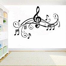 HULINJI DIY vinyl Wandtattoo Musik Melodie