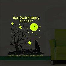 HULINJI Glow in the Dark Halloween-Wandaufkleber