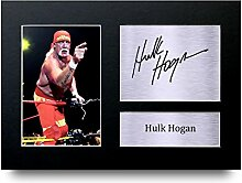 Hulk Hogan SIGNED A4gedrucktem Autogramm WWE WWF Wrestling Print Foto Bild Display–tolle Geschenkidee