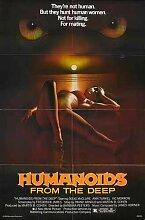 Humanoids From Deep Poster 01 Metal Sign A4 12x8 Aluminium