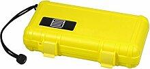 Humidor Cigar Case S3 Acryl gelb / Humidifer / 5
