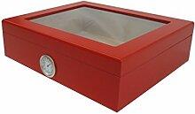 Humidor für 20 Zigarren Glasdeckel Außenhygrometer ro