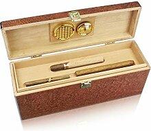 Humidor Geschenkbox für Zigarren & Wein inkl. Hygrometer & Befeuchter