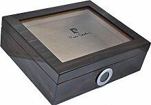 Humidor - set für 25 Zigarren - digitales Hygrometer - Marke: Pierre Cardin Paris