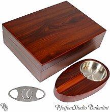 Humidor Set inkl. Zigarrenaschenbecher und Zigarrenabschneider (Mahagoni)