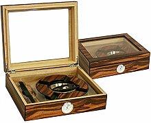 Humidor Set MAKASSAR braun matt 260 x 220 x 75 mm inkl. Aschenbecher, Zigarrenabschneider, Befeuchter, Hygrometer