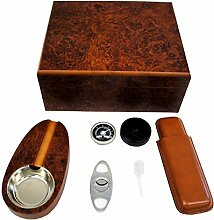 Humidor Set Zigarrenschneider Zigarrenaschenbecher Dosiepipette Zigarrenetui