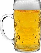 Humpen/Bierkrug aus Glas - 1 Maß (ca. 1 Liter) -