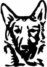 Hund Aufkleber 001, 50 cm, schwarz