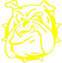 Hund Aufkleber 002, 50 cm, gelb