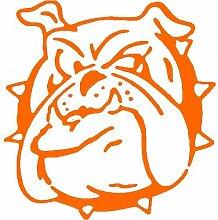 Hund Aufkleber 002, 50 cm, orange