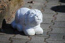 Hund aus hellem,grauen Granit,Gartendeko,ca.40cm