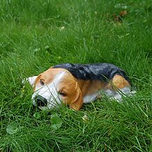 Hund Beagle schlafend Tierfigur