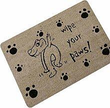 Hund Fußmatte mit Spruch Gummi Türmatte