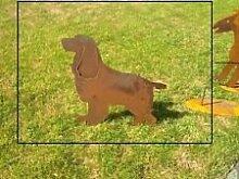Hund, Garten Figuren, Natur Farben und Eisen