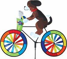 Hund Garten Wind Spinner. Puppy on a Bike Garden