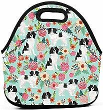 Hund Haustier Floral Lunchpaket-Box Mom Bag