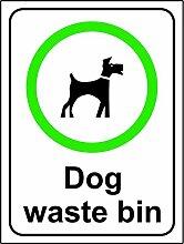 Hund Mülleimer Hinweisschild-3mm Aluminium