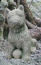 Hund Welpe 26cm handgefertigt massiv Beton 5kg
