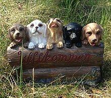 Hunde Willkommen Deko Willkommenschild 22cm