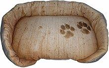 Hundehütte/Fußauflage für Tiere mit Hintergrund