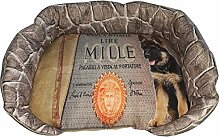 Hundehütte/Fußauflage für Tiere mit Schäferhund und Symbol Mille Lire, ein Single Stück 62x42x13 grün