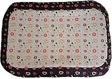 Hundehütte/Matte/Strandmatte mit Süßigkeiten, ein Single Stück 70x46x6 nero azzurro rosa e misto