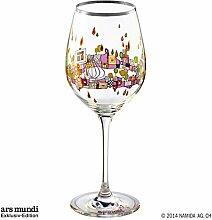 Hundertwasser Weinglas Beauty is a Panacea PM XIX/1 Lila Platin