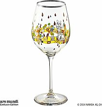 Hundertwasser Weinglas Beauty is a Panacea PM XIX/3 Gelb Platin