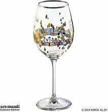 Hundertwasser Weinglas Beauty is a Panacea PM XIX/5 Blau Platin