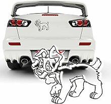 Hundesticker Comic Design Aufkleber Dekoration Autotattoo Dog Motivaufkleber Heckscheibenaufkleber |025V30