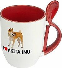 Hundetasse Akita Inu - Löffel-Tasse mit Hundebild