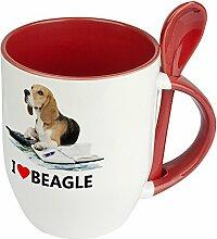 Hundetasse Beagle - Löffel-Tasse mit Hundebild