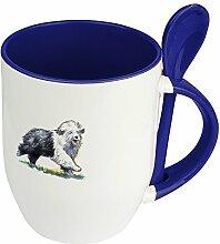 Hundetasse Bobtail - Löffel-Tasse mit Hundebild