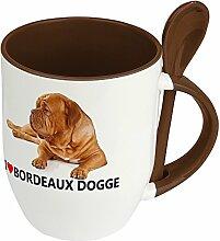 Hundetasse Bordeaux Dogge - Löffel-Tasse mit
