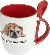 Hundetasse Englische Bulldogge - Löffel-Tasse mit