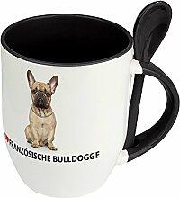 Hundetasse Französische Bulldogge - Löffel-Tasse