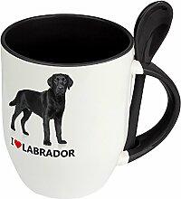 Hundetasse Labrador - Löffel-Tasse mit Hundebild