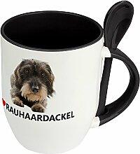 Hundetasse Rauhaardackel - Löffel-Tasse mit