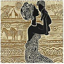Hunihuni Afrikanische schwarze Frau Tischdecke