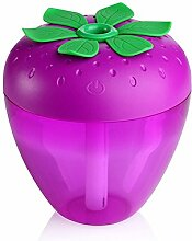 Hunpta Erdbeere-Home Aroma LED Luftbefeuchter Luft Diffusor Luftreiniger Zerstäuber (Lila)