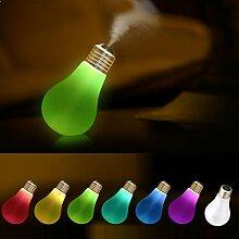 Hunpta Lampe Luftbefeuchter Home Aroma LED Luftbefeuchter Luft Diffusor Luftreiniger Zerstäuber für Gärten, Häuser, Hochzeit, Weihnachtsfeier (Weiß)