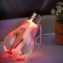 Hunpta Lampe Luftbefeuchter Home Aroma LED Luftbefeuchter Luft Diffusor Luftreiniger Zerstäuber (Gold)