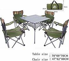 HUOQILIN Gartenstühle Außenpicknick Falttisch