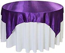 huplue 5768x 145Satin Tischdecke Tischläufer für Tisch, rund, quadratisch ideal für Buffet Tisch, Partys, Urlaub Dinner & mehr viole