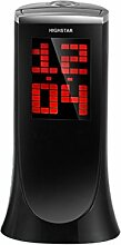 HUPLUE Digital Projektion Uhr mit Datum Alarm