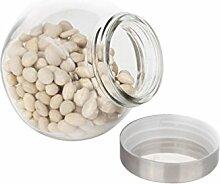 HUPLUE Glas Vorratsdose Frischhaltedose für